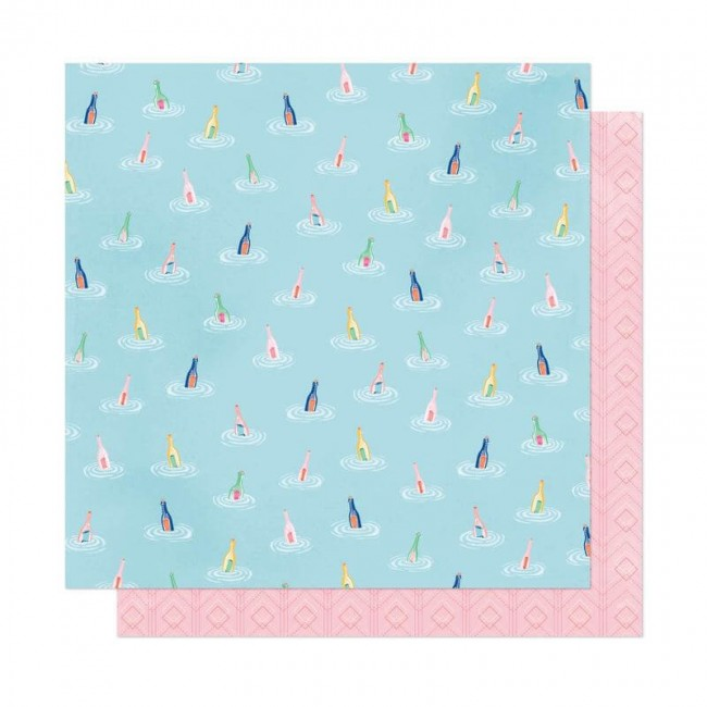 Papel Estampado Doble Cara 12x12 She's Magic Dear Lizzy Across The Sea