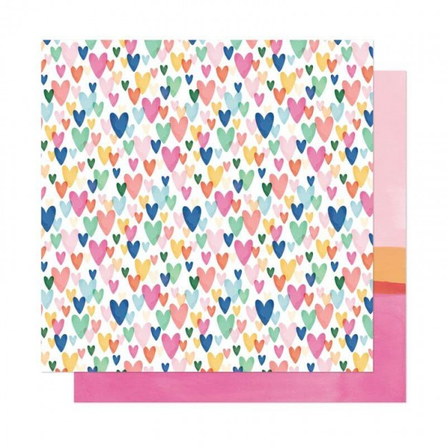 Papel Estampado Doble Cara 12x12 She's Magic Dear Lizzy Kind Heart