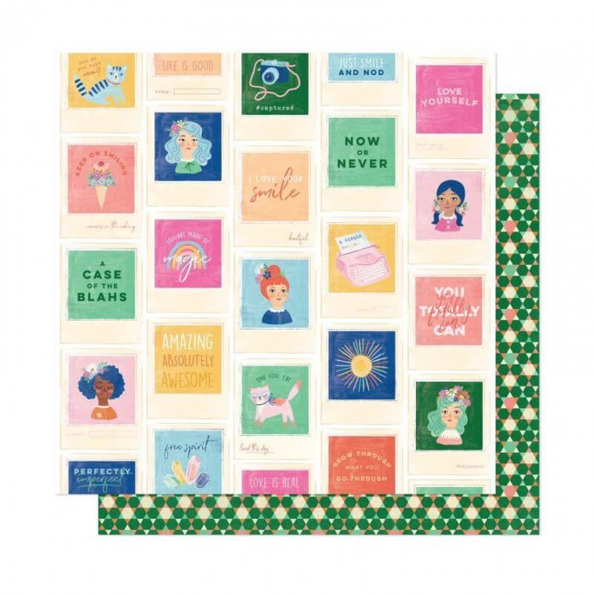 Papel Estampado Doble Cara 12x12 She's Magic Dear Lizzy Best Friends