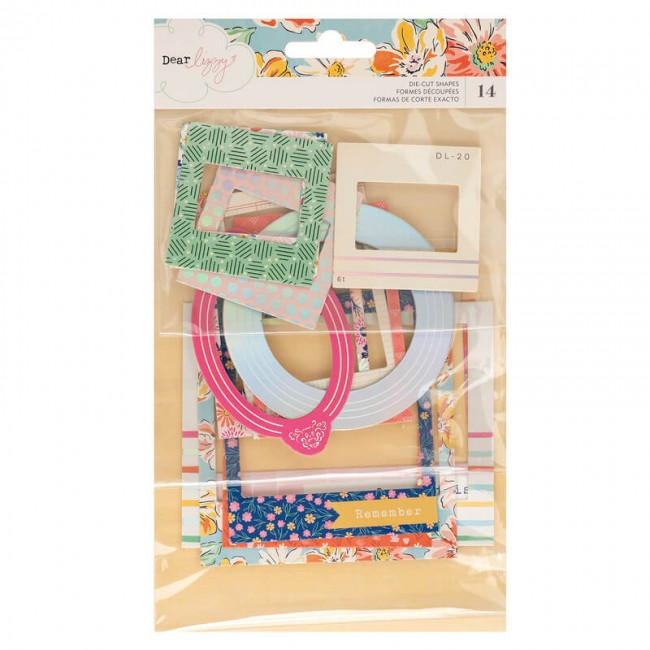 Chipboard She's Magic Dear Lizzy Frames