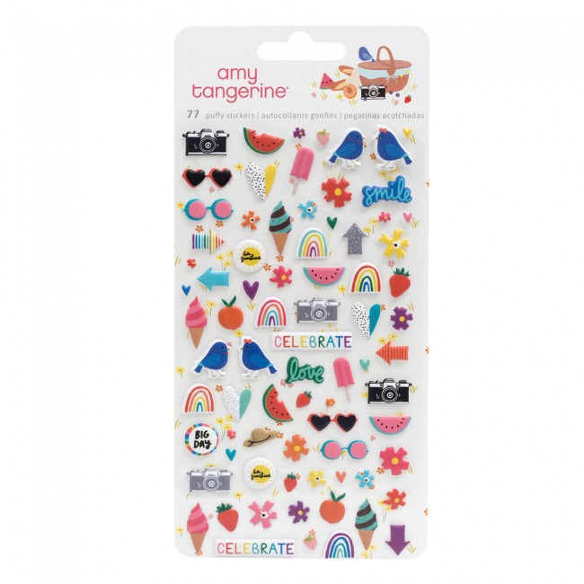 Pegatinas Puffy Picnic In The Park Amy Tangerine Mini Icons