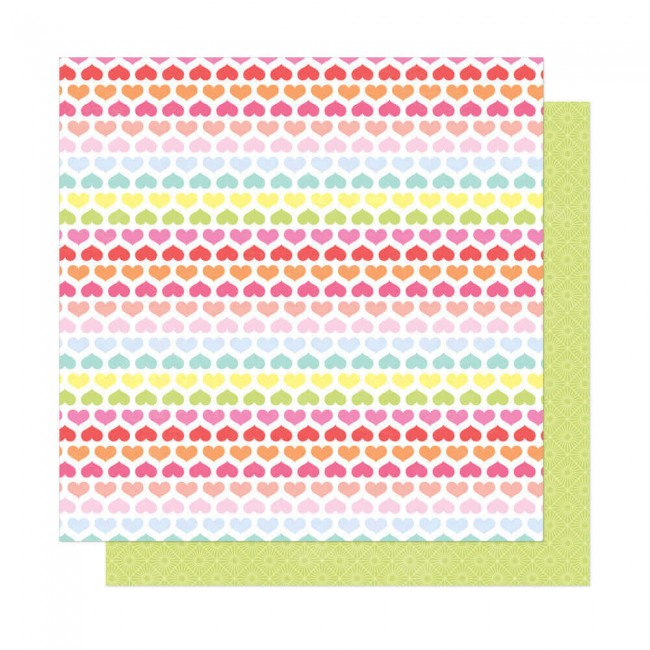 Papel Estampado Doble Cara 12x12 Here & Now Dear Lizzy Bright Side