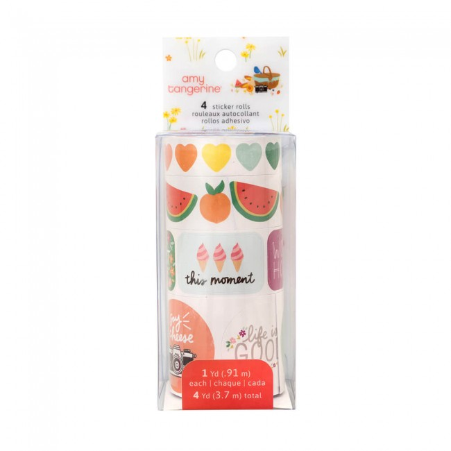 Pegatinas Picnic In The Park Amy Tangerine Sticker Roll