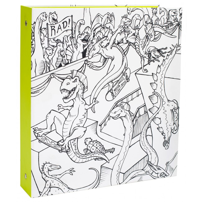 Dinosaur Lime Binder Hall Pass
