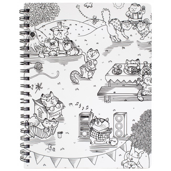 "Kitty Karaoke Large Sketchbook 8.5"" x 11"""