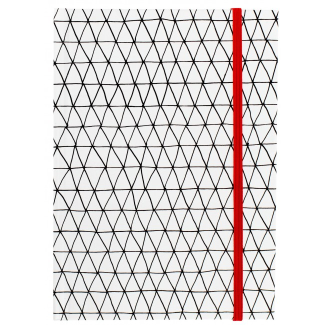 "Triangles Red Small Notebook 5"" x 7"""