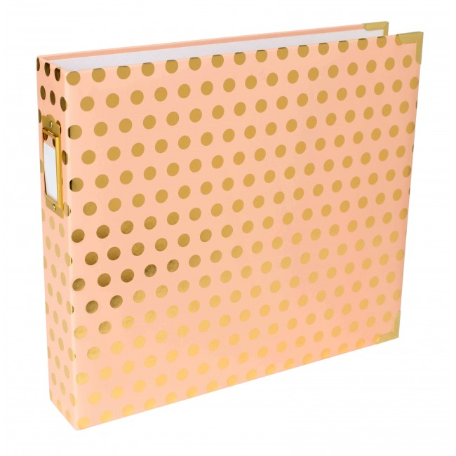 "Álbum 12""x12"" Blush W/Gold Dots"