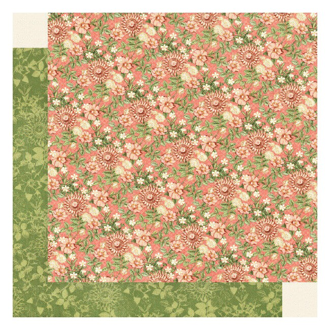 Papel Estampado Doble Cara 12x12 Garden Goddess Fields Of Flowers