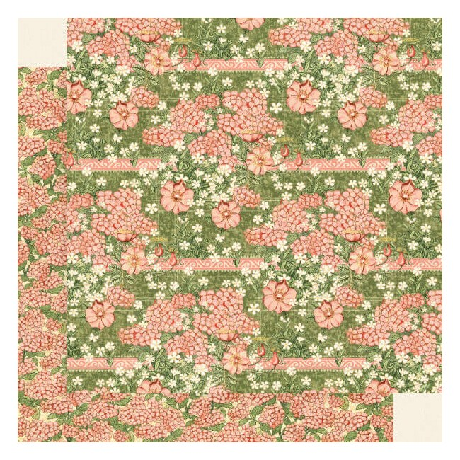 Papel Estampado Doble Cara 12x12 Garden Goddess Happiness Blossoms