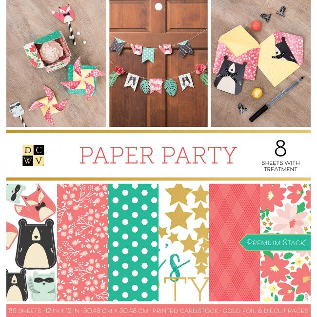 Stack Papeles Estampados 12x12 Paper Party