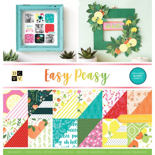 Stack Papeles Estampados 12x12 Easy Peasy