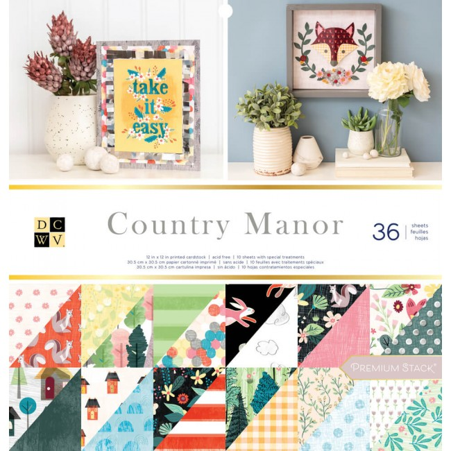 Stack Papeles Estampados 12x12 Country Manor