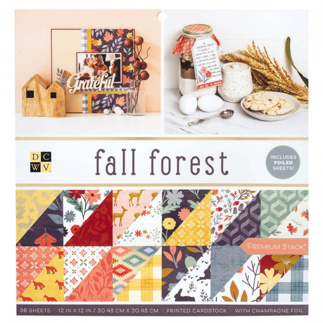 Stack Papeles Estampados 12x12 Fall Forest