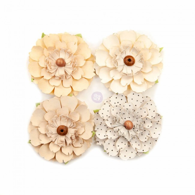 Flores de Papel Pretty Pale Neutral Beauty