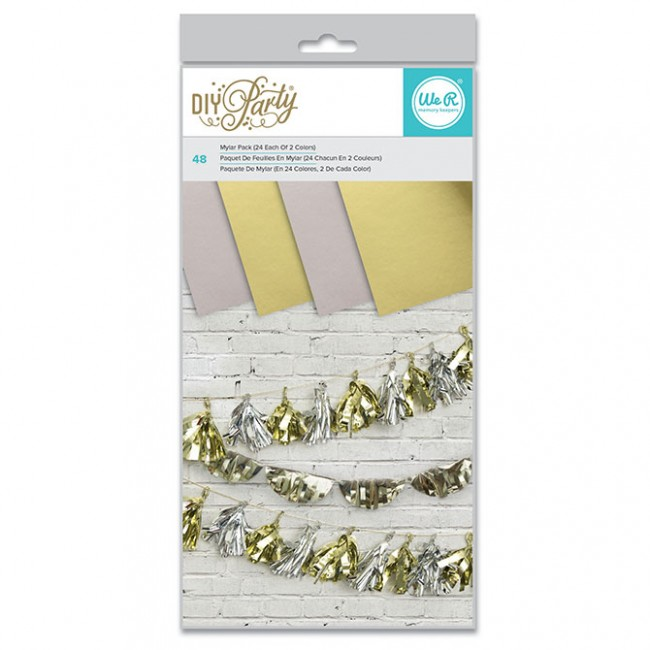 """DIY Party Mylar Paper Pack 6"""" x 12"""""""