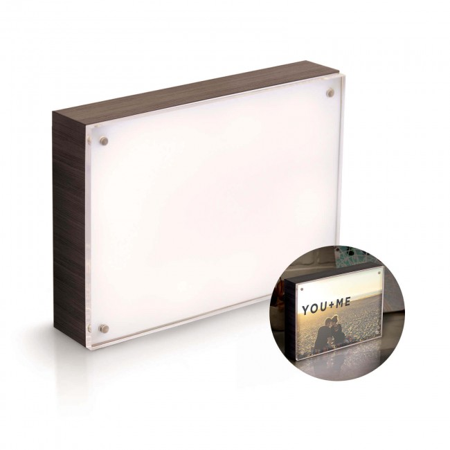 "Marco luminoso 5""x7"" PhotoLights - Ebony"