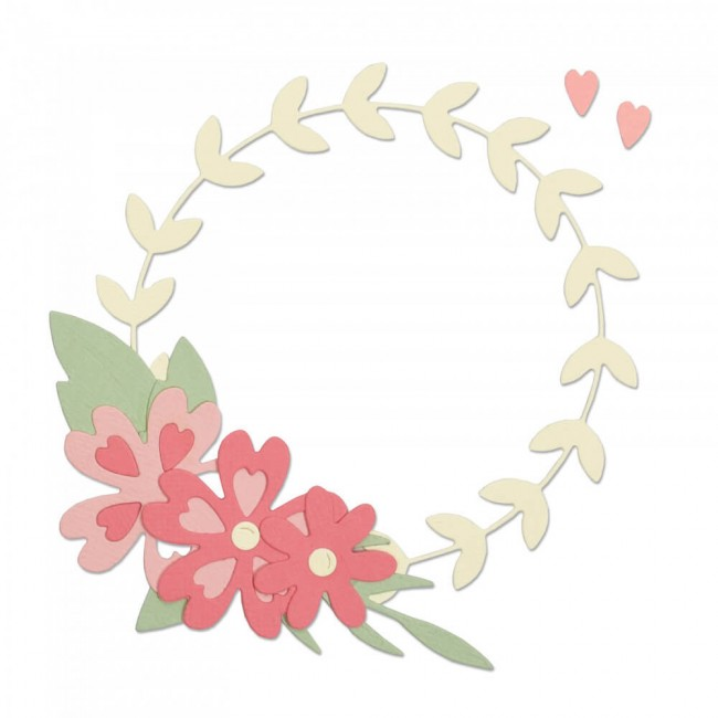 Troquel Thinlits Floral Wreath