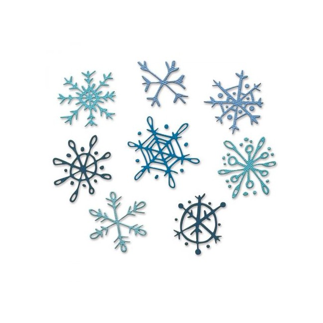 Troquel Scribbly Snowflakes by Tim Holtz