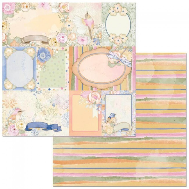 Papel Estampado Doble Cara 12x12 Harmony Dragonflies