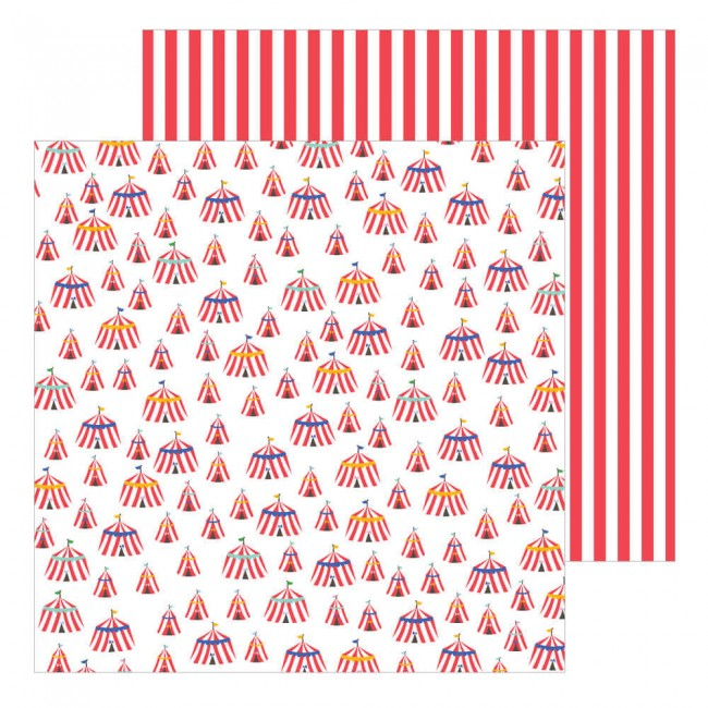 Papel Estampado Doble Cara 12x12 Big Top Dreams Big Top Dreams