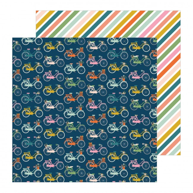 Papel Estampado Doble Cara 12x12 This Is Family Bike Ride