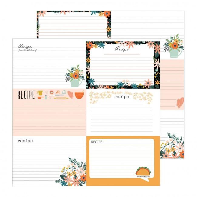 Papel Estampado Doble Cara 12x12 This Is Family Family Recipes