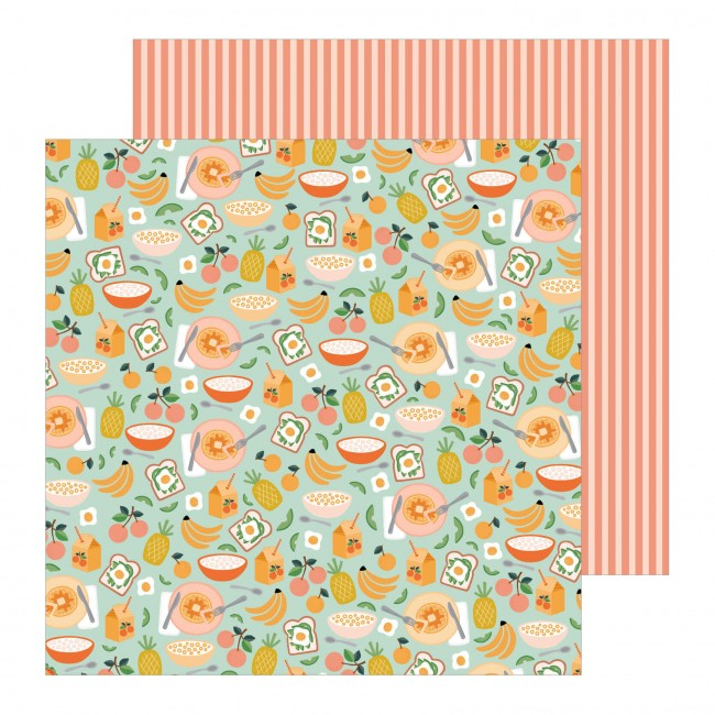 Papel Estampado Doble Cara 12x12 This Is Family Meal Time