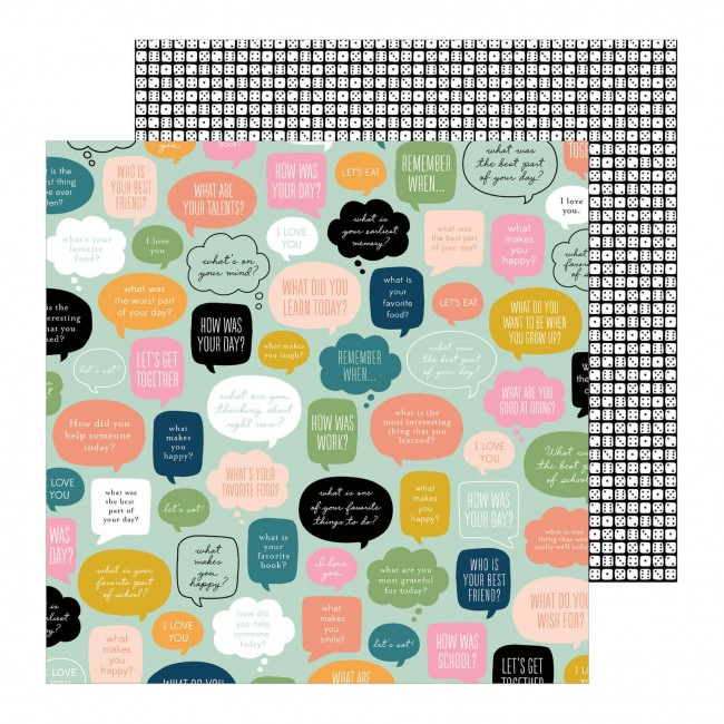 Papel Estampado Doble Cara 12x12 This Is Family Chit Chat