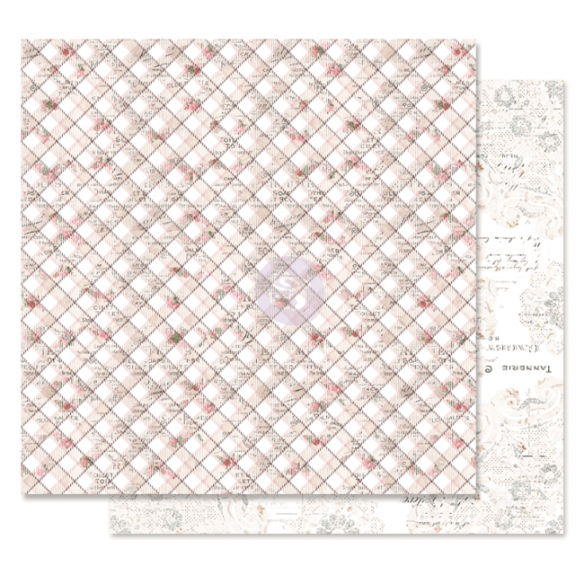 Papel Estampado Doble Cara 12x12 Lavender Frost Hidden Truth