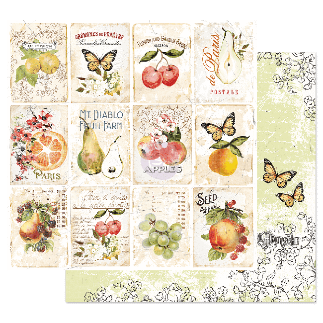 Papel Estampado Doble Cara 12x12 Fruit Paradise Fruit Lover