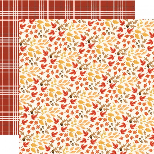 Papel Estampado Doble Cara 12x12 Fall Market Rustling Leaves