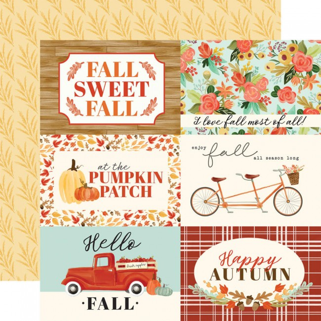 "Papel Estampado Doble Cara 12x12 Fall Market 4""X6"" Journaling Cards"