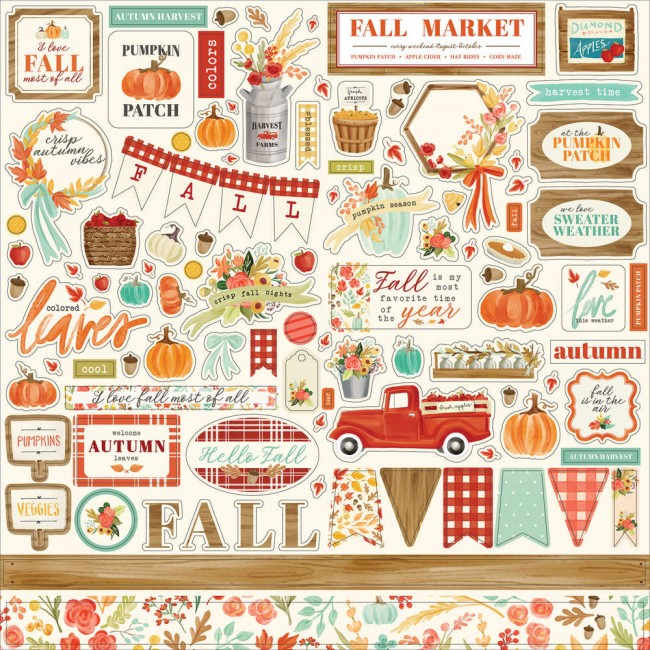 Pegatinas 12x12 Fall Market Elements
