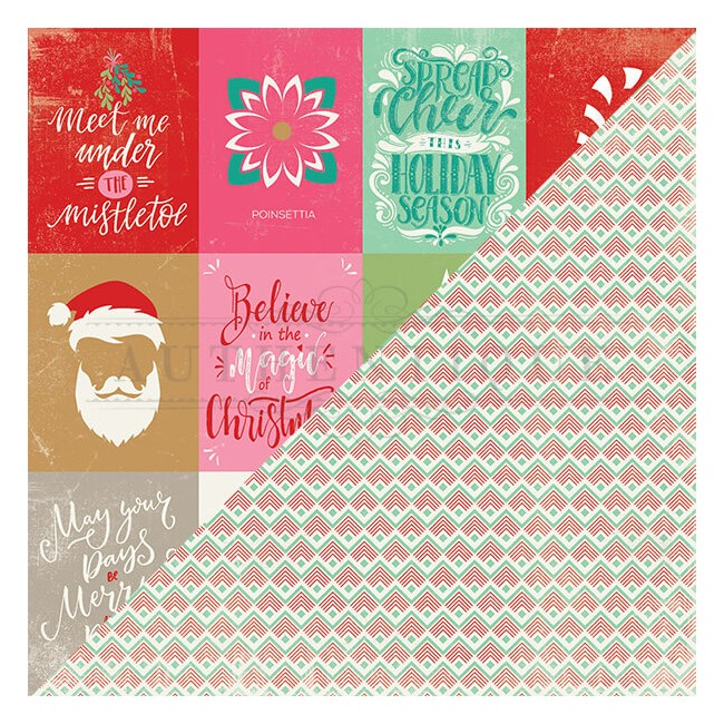 Papel Estampado Doble Cara 12x12   Colorful Christmas   #8