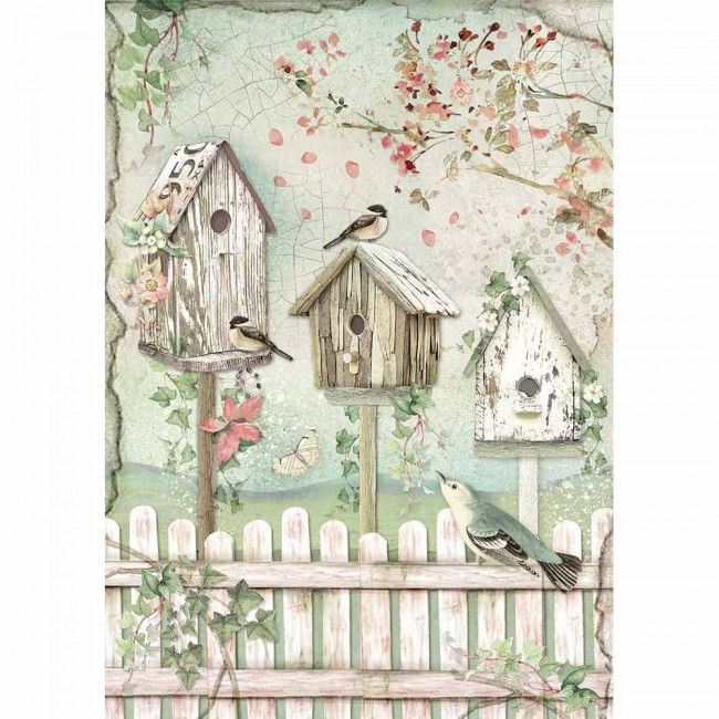 Papel de arroz decoupage A4 House Of Roses Packed Nests
