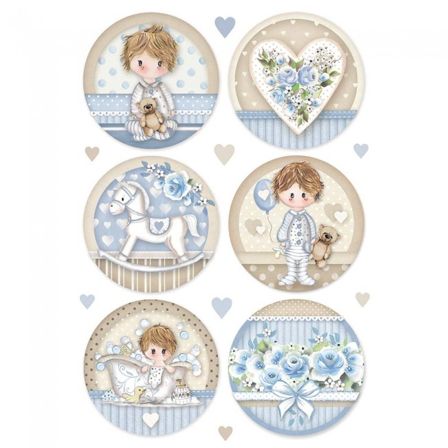 Papel de arroz decoupage A4 Little Boy Round