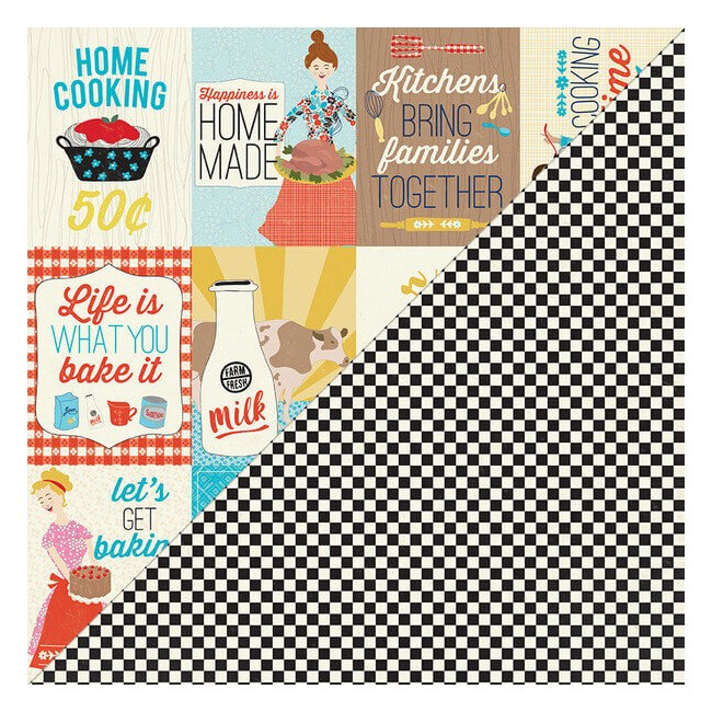 "Papel Estampado Doble Cara 12x12 Ingredient #11 3""X4"" Cut-Apart Images & Sentiments"