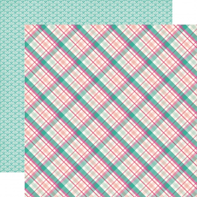 Papel Estampado Doble Cara 12x12 Imagine That Girl Princess Plaid