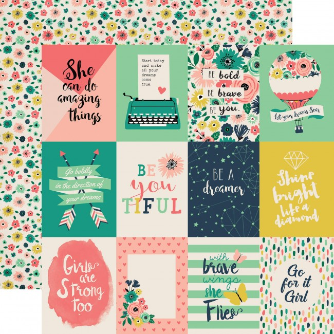 Papel Estampado Doble Cara 12x12 - Just Be You - 3