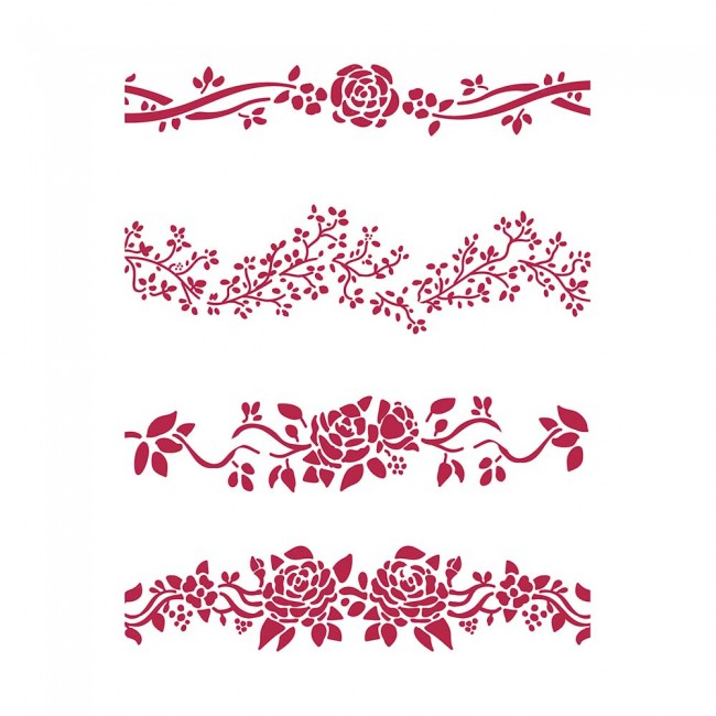 Stencil House Of Roses Frames