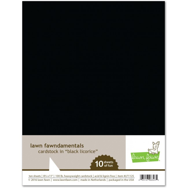 10 Cartulinas lisas 8.5x11 Black Licorice