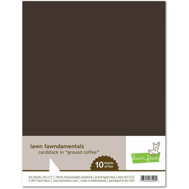 10 Cartulinas Lisas 8.5x11   Ground Coffee