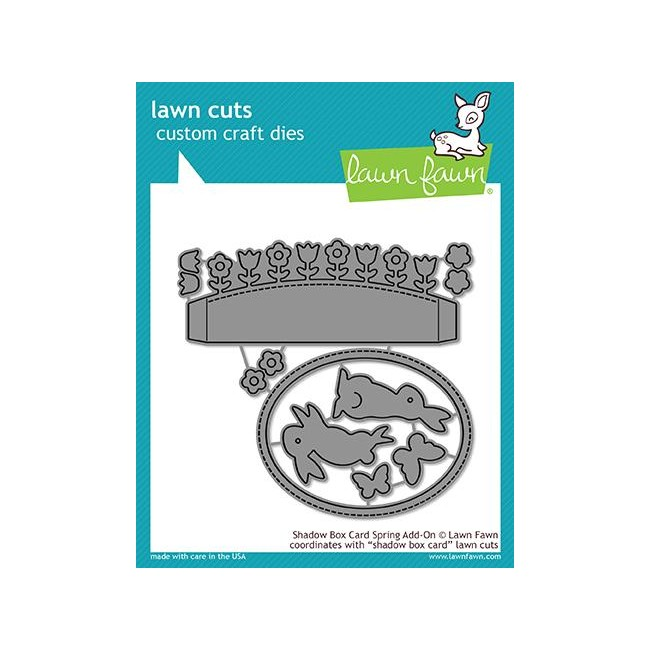 Troquel Lawn Cuts Shadow Box Card Spring Add-On