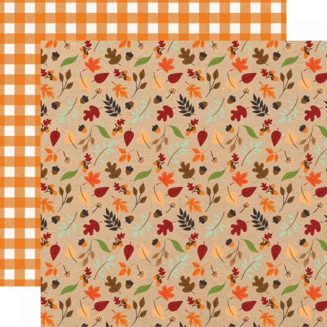 Papel Estampado Doble Cara 12x12 My Favorite Fall Fall Breeze
