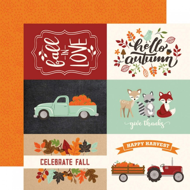 "Papel Estampado Doble Cara 12x12 My Favorite Fall 4""X6"" Journaling Cards"