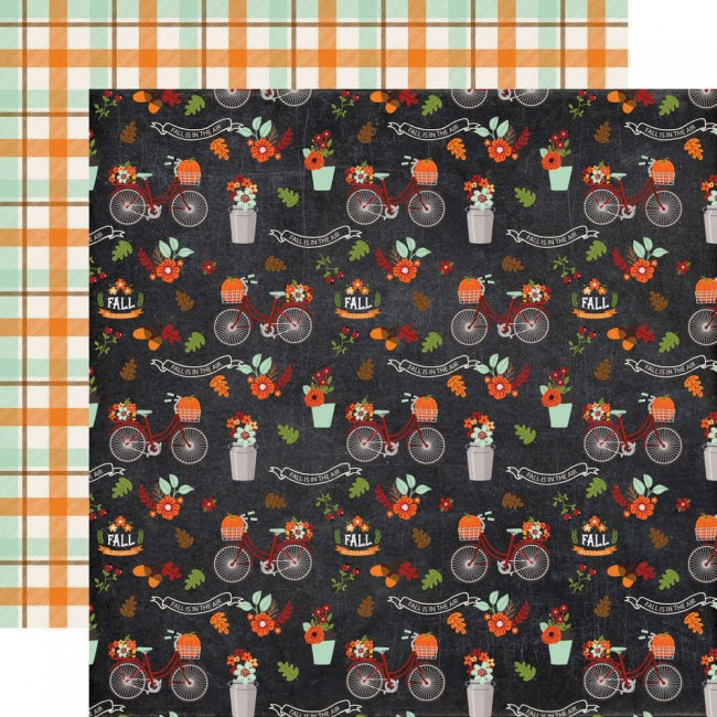 Papel Estampado Doble Cara 12x12 My Favorite Fall Fall Is In The Air