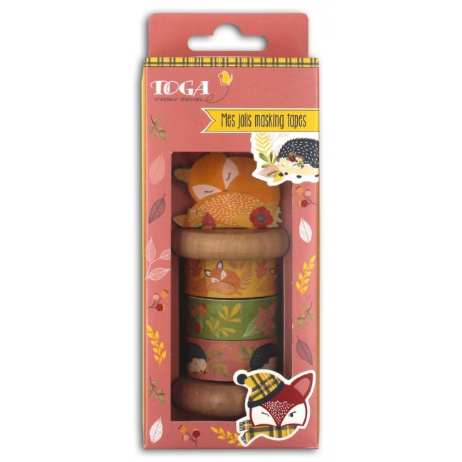 Set de Washi Tape Foxy con bobina