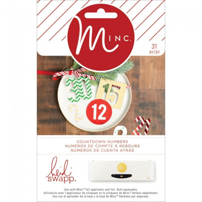 Minc Christmas Chipboard Numbers