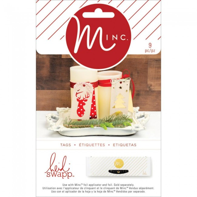 Minc Christmas Die Cut Tags