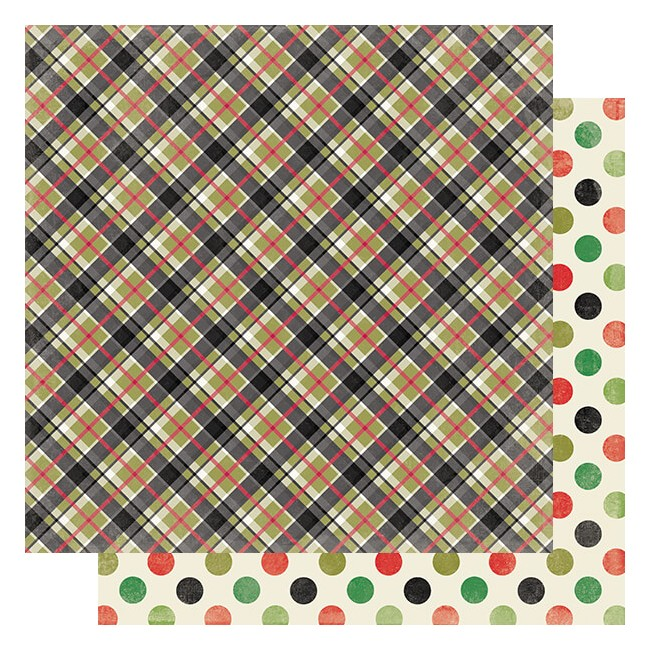 Papel Estampado Doble Cara 12x12 Rejoice #11 Tartan Plaid